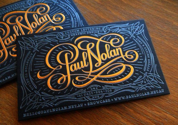 Paul Nolan letterpress business card