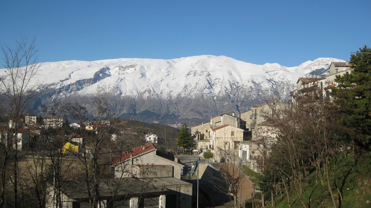 Abruzzo, Italy - Hometown Torricella Peligna, before the snow