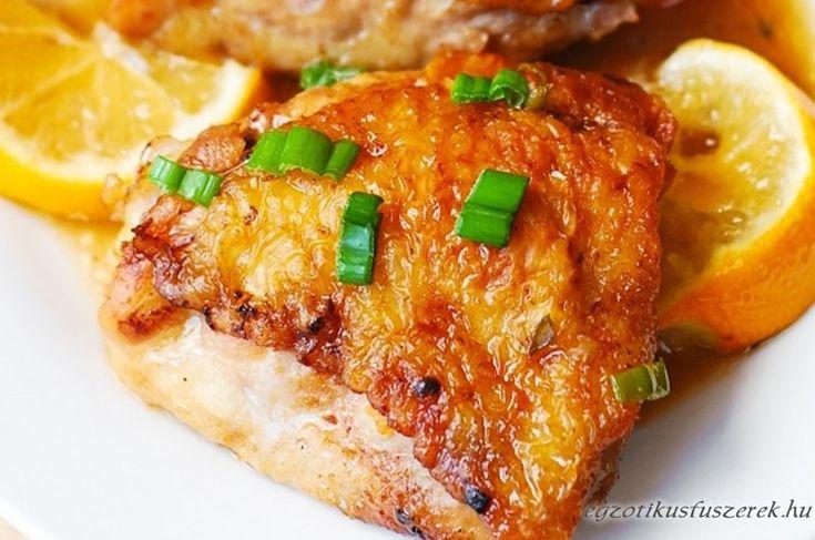 Gyömbéres Citromos Sült Csirkecombok