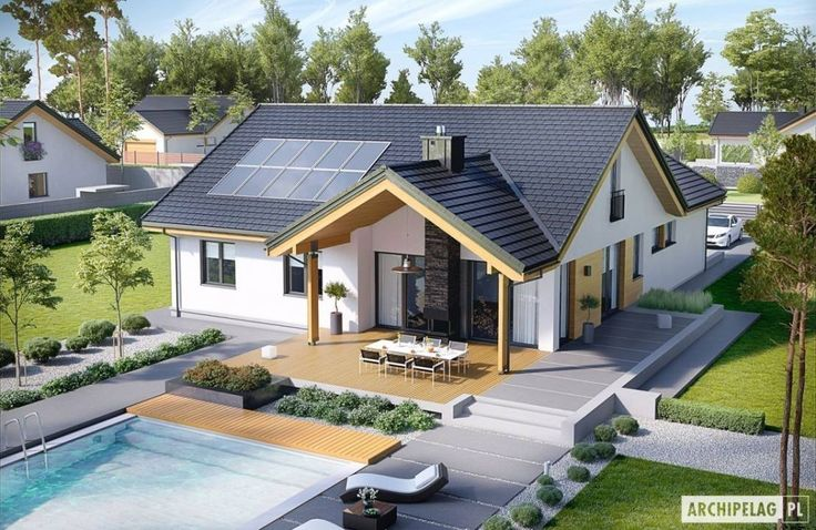 Projekt domu Simon G2 : Casas modernas por Pracownia Projektowa ARCHIPELAG