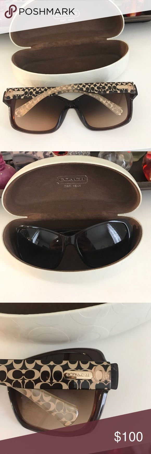 """Coach sunglasses Brown sunglasses with the Coach letter """"C"""" down the sides Coach Accessories Sunglasses"""