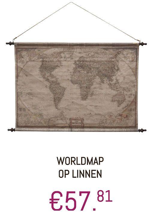 #Landkaart #wereldkaart Leuk voor op kantoor Hubby