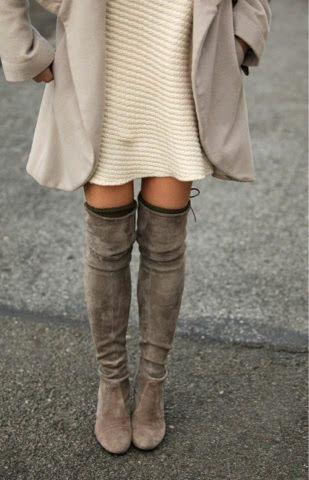 HOW TO WEAR OVER THE KNEE BOOTS, come indossare e abbinare gli stivali sopra il ginocchio