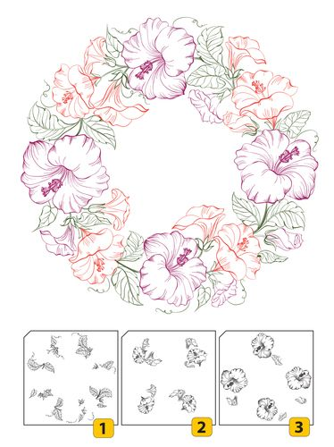 Szilikon nyomdák : Szilikon nyomda - Wreath 3in1