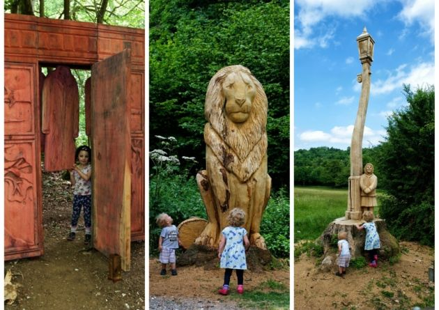 The Lion, the Witch and the Wardrobe has been brought to life at the newly designated Banstead Woods and Chipstead Downs Nature Reserve