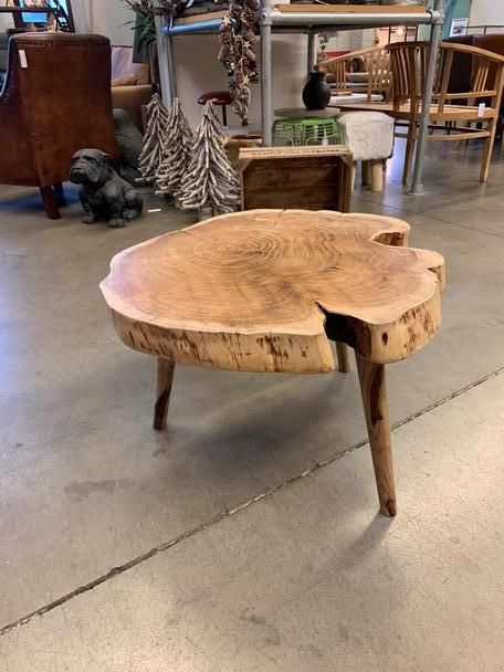 Baumstamm Couchtisch Baumscheibe Tisch Vintage Bei