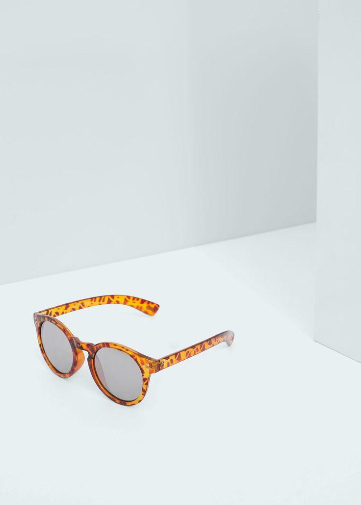 Óculos de sol redondos espelhados