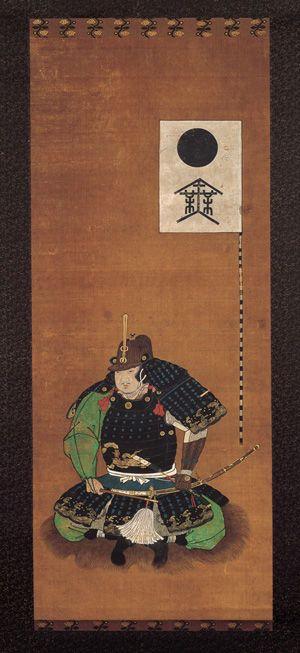 Sakakibara Yasumasa 榊原 康政 (1548 – 1606) . Edo period, 17th century; Hanging scroll; ink and colors on silk. 44 1/8 x 18 1/8 in. (112 x 46 cm) -Tokyo National Museum-
