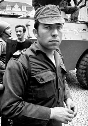 Salgueiro Maia during the Portuguese Revolution of April 25 1974