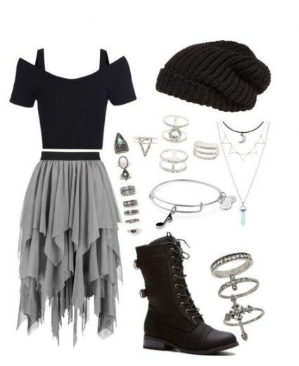Trendy Rock Outfits für die Schule Black Ideas