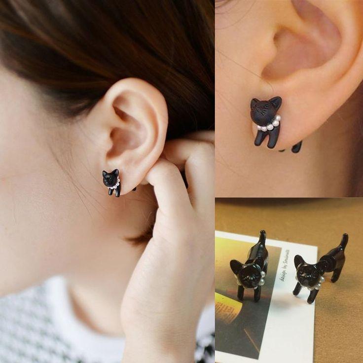 Купить товар1 пк милый прекрасный жемчуг Cat стержня уха женщин мужские пирсинг серьги EAR 0193 в категории Серьги-гвоздикина AliExpress.                Материал:          Сплав                                      Размер: 1.6*1.8 см