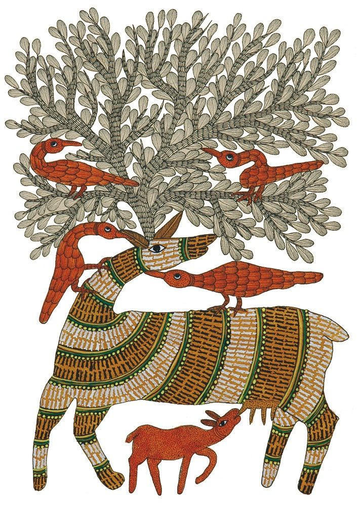 Rayendra Shyam, from Signature: Patterns in Gond Art,