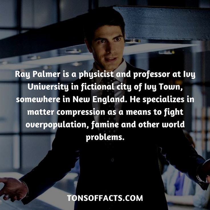 Ray Palmer is a physicist and professor at Ivy University in fictional city of Ivy Town, somewhere in New England. She specializes in matter compression as a means to fight overpopulation, famine and other world problems. #raypalmer #tvshow #justiceleague #comics #dccomics #interesting #fact #facts #trivia #superheroes #memes #1 #movies #theatom #greenarrow