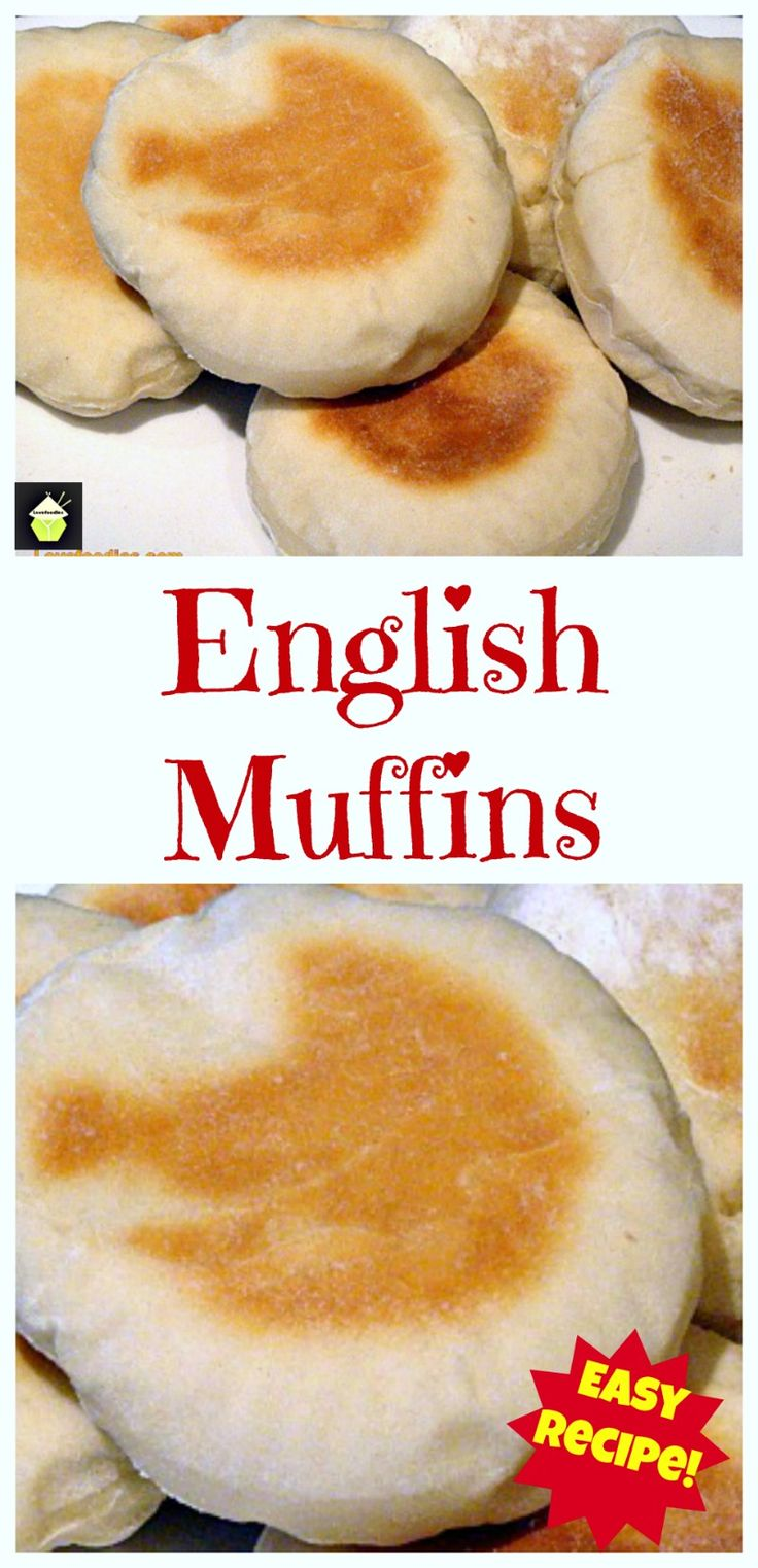 English Muffins - Perfect served warm with some butter! You can eat these delights sweet or savoury, the choice is yours! (I like strawberry jam on mine!)