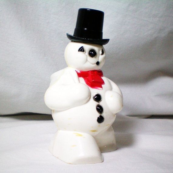 Frosty the snowman plastic candy holder vintage 1950 for Plastic snowman