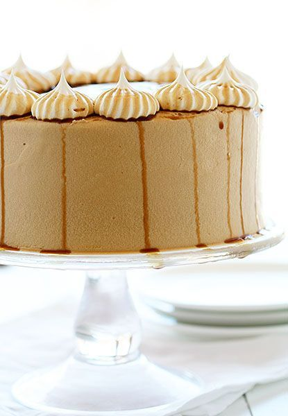 Root Beer Cheesecake Cake ~ http://iambaker.net