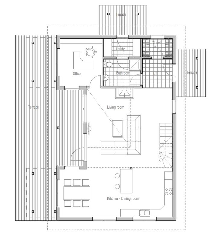 Contemporary Home Plan CH88 Floor Plans And 3D Images.