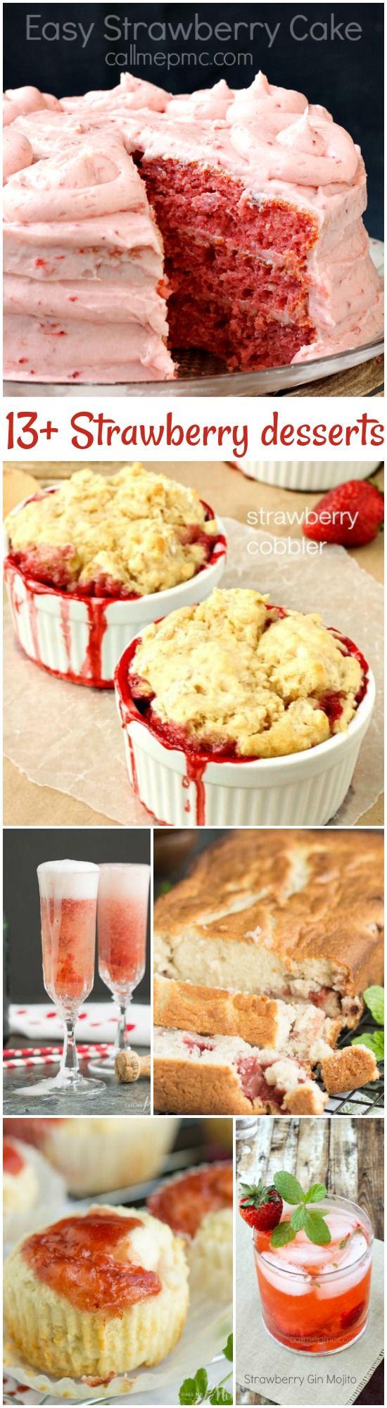 13+ Strawberry Desserts