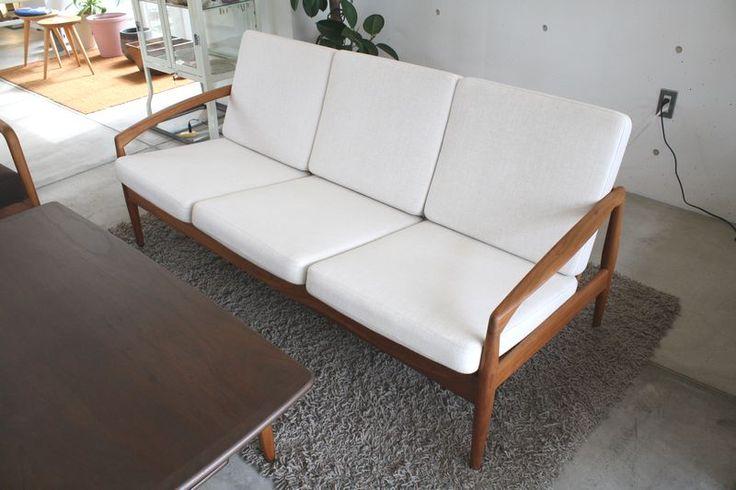 Kai Kristiansen Paper Knife sofa 3P  宮崎椅子製作所 ウォールナット材