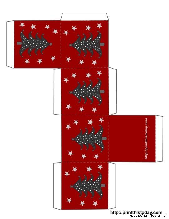 Cajas de Navidad. Plantillas para la impresión (8) (541x700, 116Kb)