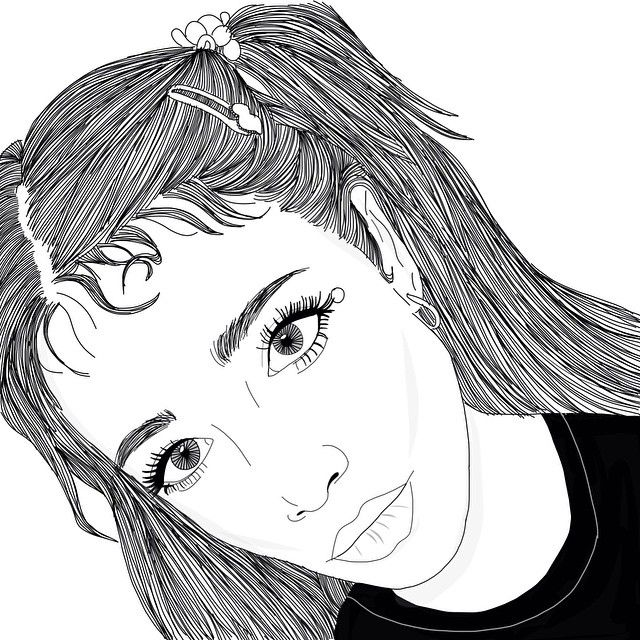 Line Art Instagram : Best alaxaspizza sketches images on pinterest girl