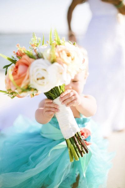 Beach wedding on pawleys island from heather payne for Casual flower girl dresses for beach wedding
