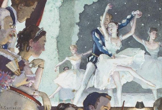 Konstantin Somov - A BOX AT THE BALLET,...