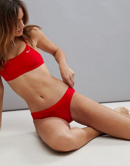899e59cb419 Nike swim bikini bottom in red in 2019