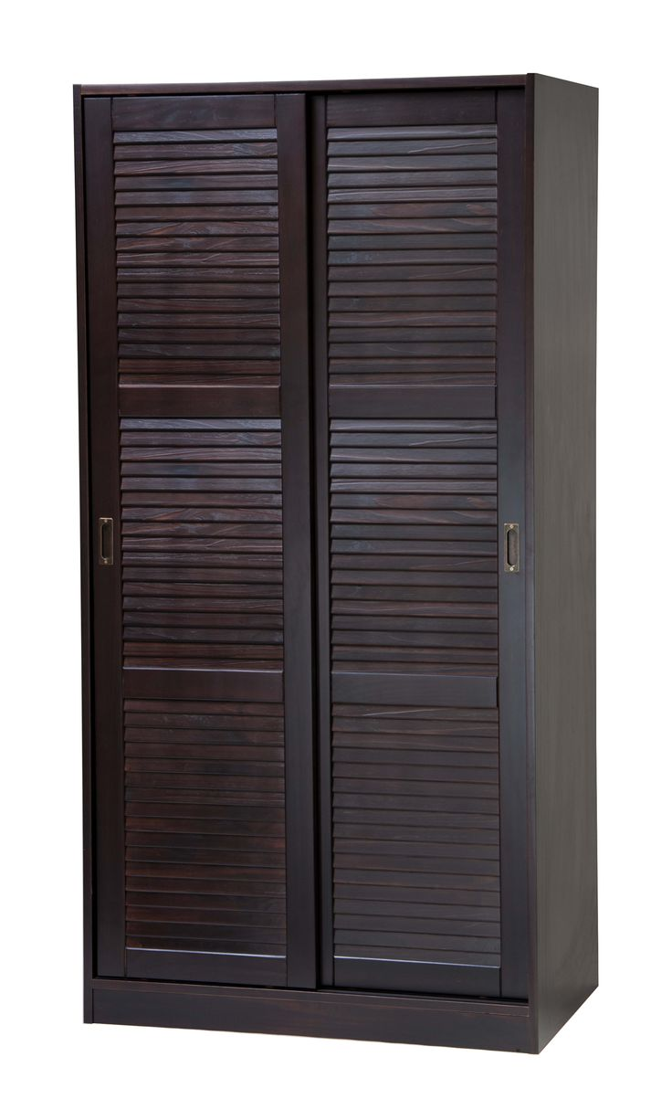 Lowest price on Palace Imports 2-Sliding Door Solid Wood Wardrobe/Closet/Armoire with Shelf in Java 5666. Shop today!