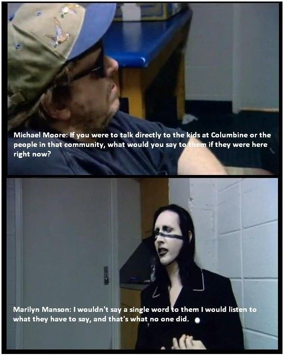 This was seriously my favorite part of Moore's documentary. Very profound.