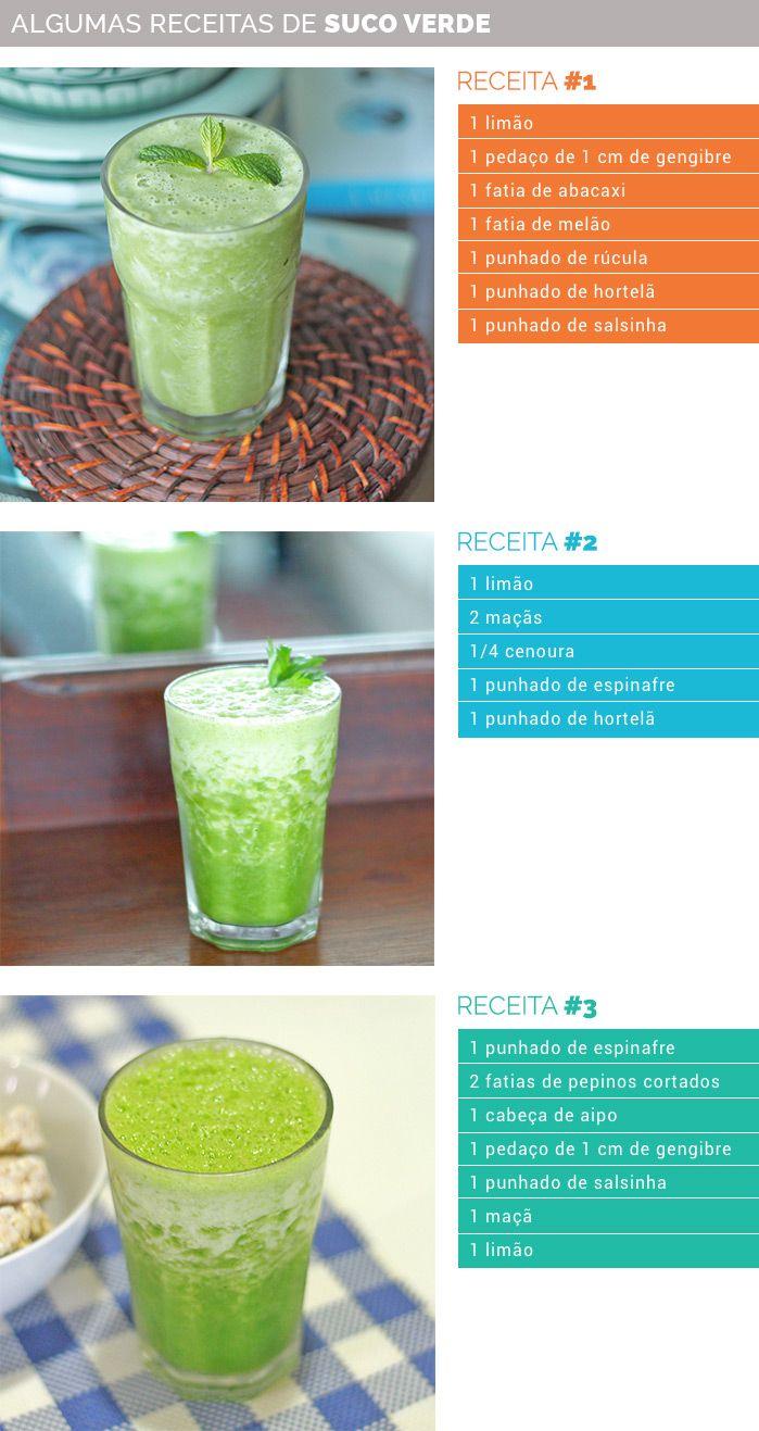 Receitas de Suco Verde