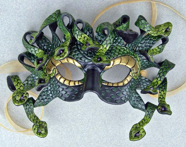 Medusa Mask  I like the color but not sure about the serpents