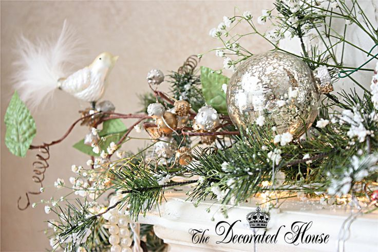 Christmas Decorating, White & Silver, Mercury Glass. The Decorated House