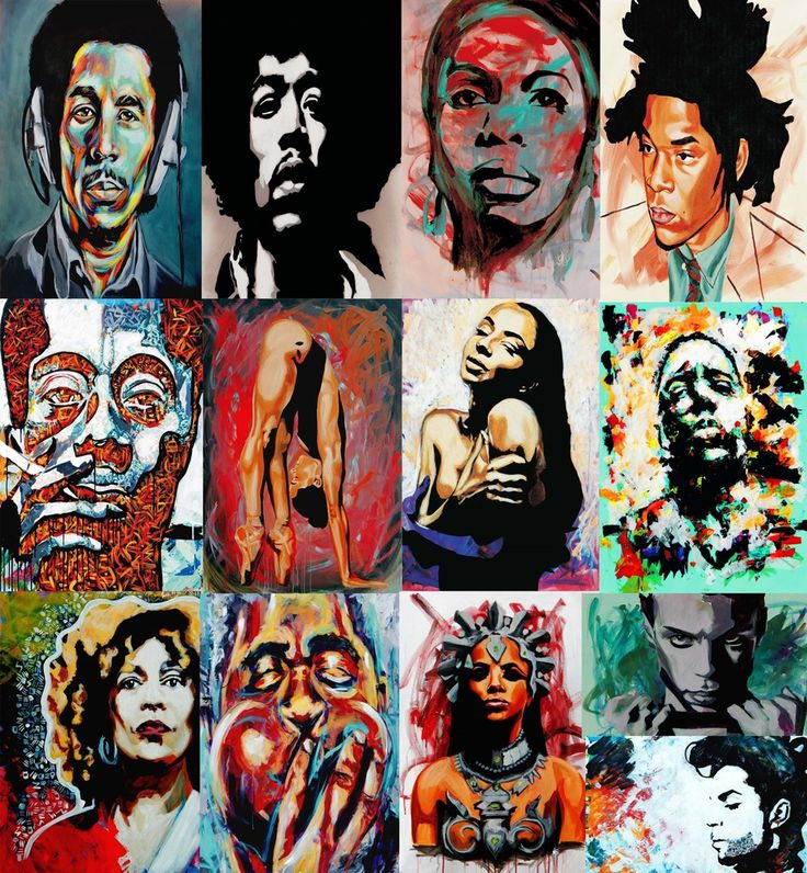 Have you seen Yvonne Ferguson's work? Her portraits are colorful, textured, and unapologetically black. From Frank Ocean to Michael Jackson, she's probably painted one of your faves. Check out her impressive online shop.