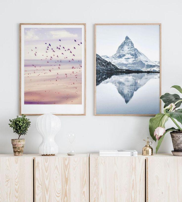 Spring MigrationPoster -50x70 cm - 20x28 in The MatterhornPoster-50x70 cm - 20x28 in 2xOak frame-50x70 cm - 20x28 in