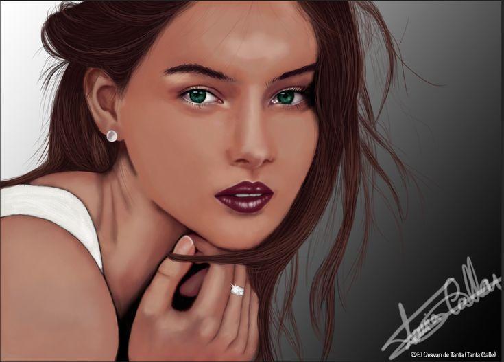 Retrato digital modelo! @eldesvandetania