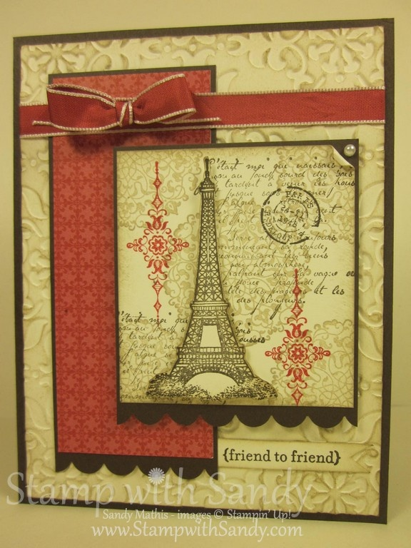 Stamp With Sandy: Artistic Etchings, Stampin UpParis Cards, Paris Eiffel Towers, Cards Ideas, Friends, Stampin Up, Stamps Sets, Pretty Cards, Artists Etchings Cards, Paper Crafts