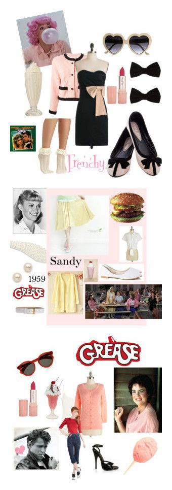 """""""Grease"""" by purplerhea ❤ liked on Polyvore featuring Chanel, Paul & Joe, INDIE HAIR, Forever 21, SANDY, D.P-Shop, GLAM12, Johnny Loves Rosie, Juliet & Company and Michael Kors"""