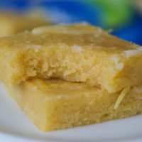 Paleo Lemon Brownies - this recipe contains eggs, so it is not vegan, try with an egg subsititute.  (I love lemon!)