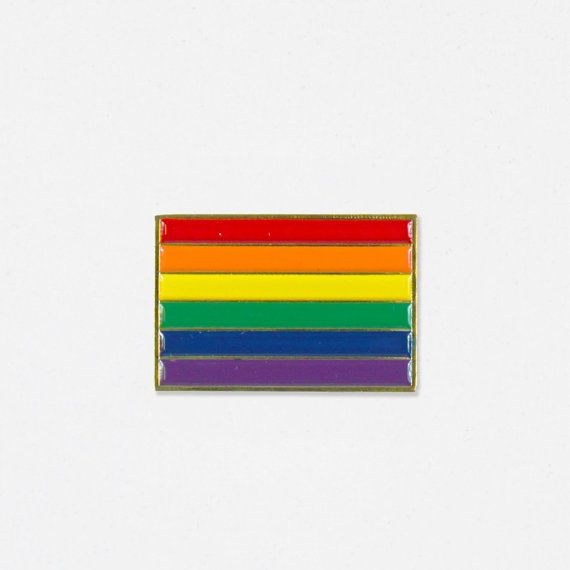 "1 Die Struck Soft Enamel Lapel Pin. Follow @bermudapress on Instagram to keep up with the latest styles!  The rainbow flag, commonly the gay pride flag and LGBT pride flag, is a symbol of lesbian, gay, bisexual, and transgender (LGBT) pride and LGBT social movements.  The Ally Coalition works with members of the music, fashion and entertainment worlds to raise awareness and funds in support of LGBTQ equality. $1 from each sale of our ""Pride"" and ""Pink Triangle"" Pins will be donated directly…"