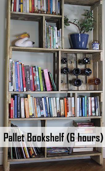 25 Unique Pallet Bookshelves Ideas On Pinterest Hanging