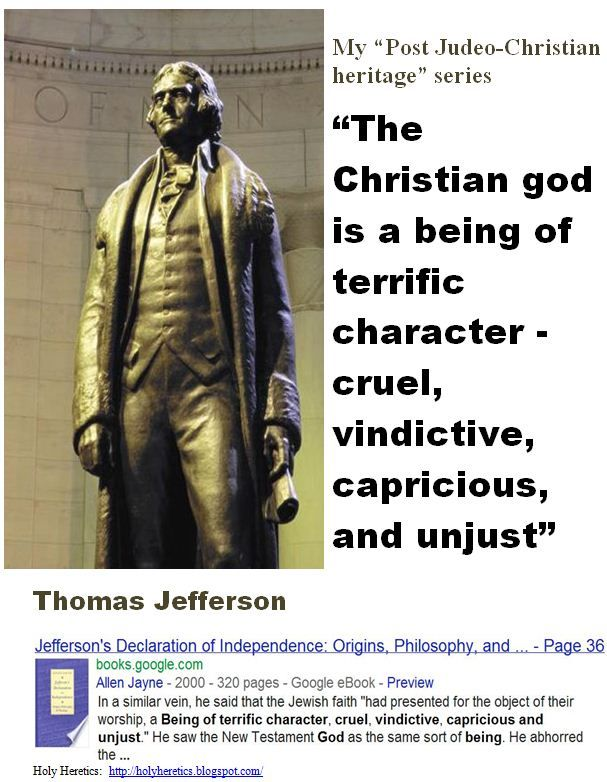 the attitude of thomas jefferson towards christianity On december 9th, 1805, thomas jefferson hosted the united states' first iftar at  the  by contrast, christianity may have appeared to jefferson to have fewer   can conjecture about his attitudes toward what his colleague george washington .