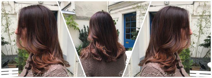 🍇 Auburn 🍇 #nofilter  Un brun cassis et un ombréhair acajou pour avoir un côté fruité 🍆🍇 avec INOA. . A blackcurrant brown and a mahogany ombrehair to have a fruity side 😃 with INOA BY LOREALPRO & SMARTBOND .  #product @lorealprofessionnelfr @franckprovostparis . ✨✨✨ #holiday#look#love#picoftheday#pink#ombrehair#girl#femalemodel#color#blondehair#auburn#redcolor#ombrehair#fruity#hairparis#strawberry#cute#hair#hairstyle#sun#franckprovost#blond#loreal#blondhair#haircolor#paris#heroeshair