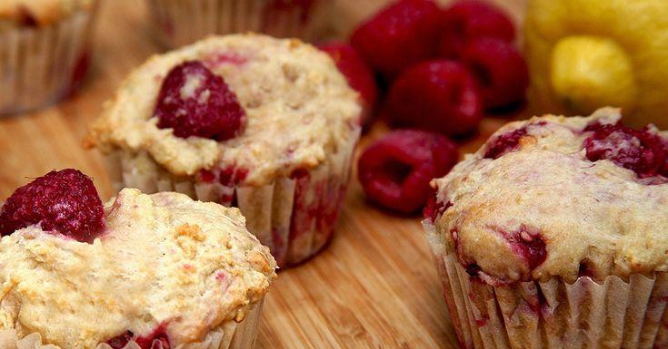 Low-Sugar, High-Protein Lemon Raspberry Muffins