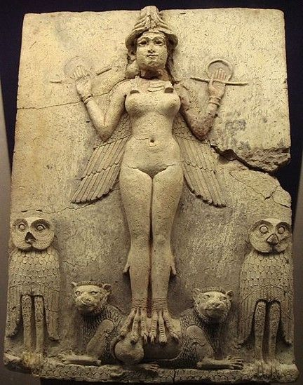 mideastcuts: The Queen of the Night. Old Babylonian, 1800-1750 BC. From southern Iraq. British Museum