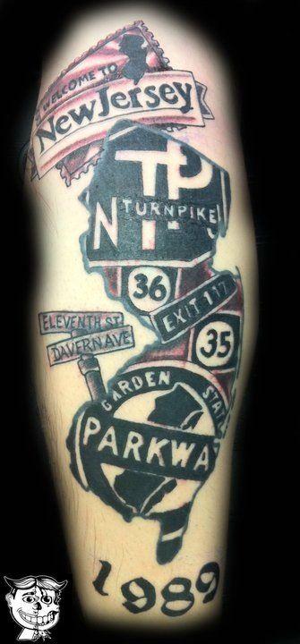 Amazing NJ tattoo. #ilovenj