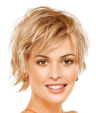 Short blonde hairstyle women