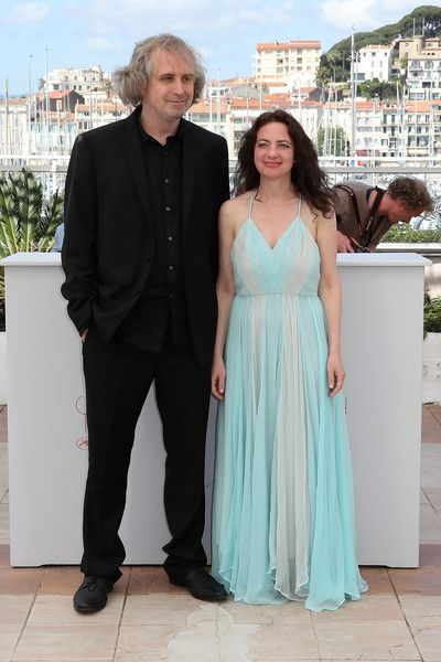 "US director Michael O'Shea (L) and US actress Chloe Levine pose on May 14, 2016 during a photocall for the film ""The Transfiguration"" at the 69th Cannes Film Festival in Cannes, southern France.  / AFP / Valery HACHE"