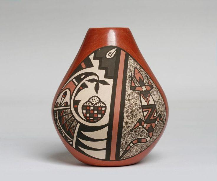 B.J. FRAGUA - JEMEZ PUEBLO POTTERY JAR - NATIVE AMERICAN INDIAN - NEW MEXICO