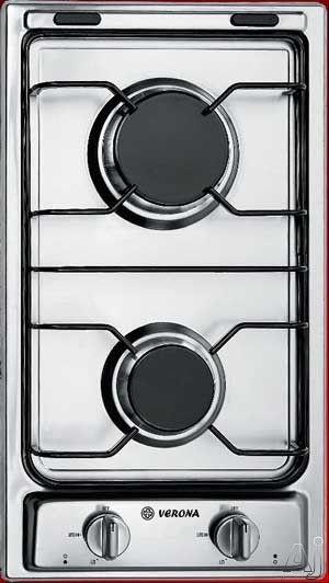 verona gas 2 burner cooktop stainless steel 12 gas cooktop with 2 sealed burners